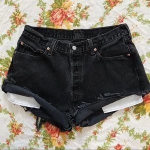 Levi's   Vintage 501 High Waisted Denim Shorts